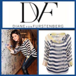 DVF Diane von Furstenberg Helmina Blouse. Size 14